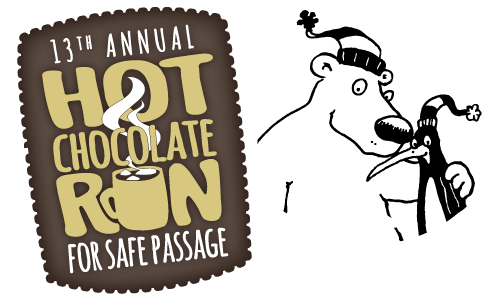 13th Annual Hot Chocolate Run for Safe Passage Logo