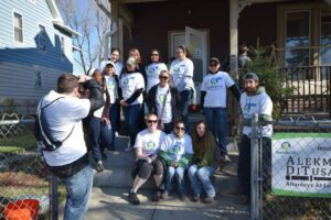 Taking a picture of Revitalize CDC volunteers