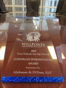 WillPower Foundation Recognition of Alekman DiTusa